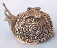 Chilmark Fine Pewter Signed Roz Selig Snail Trinket by aestexas, $25.00