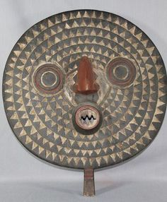 $250 Bobo Moon Mask from Burkina Faso, Sculpture by Artist Unknown