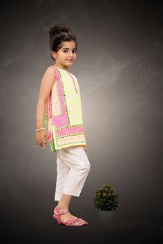 Details about  /ALLKIDS 4-pcs Kids Shalwar Shirt Coat Girl Formal Pakistani light Gold Pink