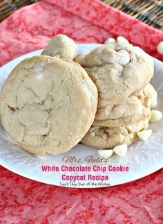 Mrs. Field's White Chocolate Chip Cookie Copycat Recipe | Can't Stay Out of the Kitchen | rich, decadent #cookies loaded with #whitechocolatechips. Amazing. #dessert #chocolate