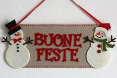 fuoriporta natalizio in feltro - felt decorations for Christmas