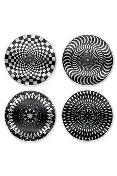 Kikkerland Moire Coasters Set of 4