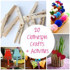 20 Clothespin Crafts and Activities | Spoonful