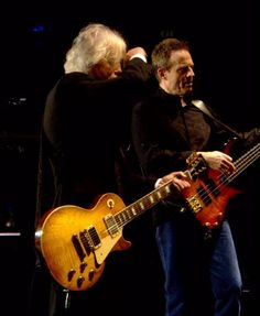 Jimmy Page and John Paul Jones at the O2 concert, London 2007.