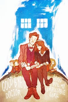 Clara and the doctor goodbye Matt smith All Doctor Who, Eleventh Doctor, Dr Who, Serie Doctor, Fanart, Don't Blink, Torchwood, Geronimo, Zombie Apocalypse