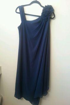 R&M Richards Blue Teal Dress Size 12 NWT Beaded  #RMRichards #Sheath