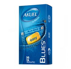 Blues Akuel preservativi classici di qualità. #pleasuretoys #vibello #sexshop #condom #preservativi #profilattici