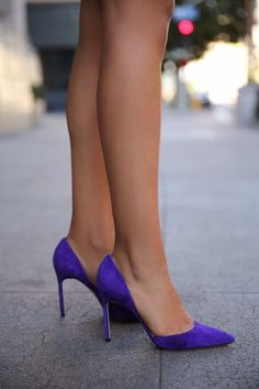 Manolo Blahnik Taylor d'Orsay pump - Love these... I sure do miss my purple suede pumps from back in the '80/90's!!! <3:)