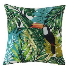 Toucan-tastic! #tropical #paradise #green #cushion