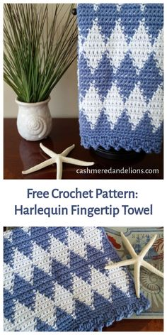 A free crochet pattern, this fingertip towel is made using the flat tapestry crochet technique. Tapestry Crochet Patterns, Modern Crochet Patterns, Crochet Stitches Patterns, Doily Patterns, Afghan Patterns, Dress Patterns, Crochet Towel, Crochet Potholders, Form Crochet