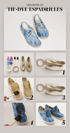 DIY Denim Inspired Tie Dye Espadrilles