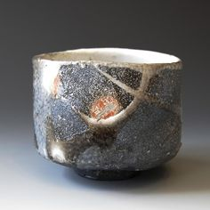 Chawan (tea ceremony bowl) - Shino glaze, Woodfired 4.5 x 4.75 x 3.75 inches This chawan will come with tomobako. Shipping and Policy
