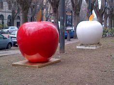 "Alessandro Gedda for JUST ONE PIECE: Art_Apple : ""Adamo & Eva"" ;  ""MelaUovo"""