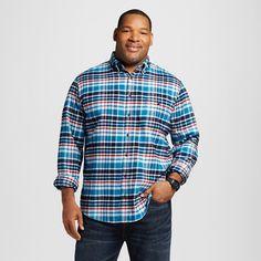 Men's Big & Tall Flannel Button Down Shirt