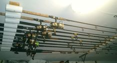 Need a rod holder to keep your fishing rods safe? Check out these two options for a safe, easy solution to build your own DIY fishing rod holder. Diy Fishing Rod Holder, Fishing Pole Storage, Kayak Storage Rack, Tool Storage, Storage Ideas, Kayak Fishing, Fishing Rods, Catfish Fishing, Fishing Tackle