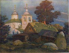 Тишина, цветной офорт В.Зорина, 1999, 19 х 24