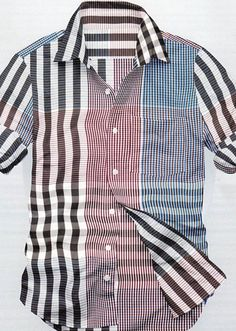 Blue Red Designer Checks Shirt - Casual Wear