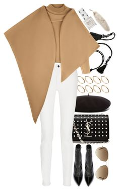 """""""Untitled #7989"""" by nikka-phillips ❤ liked on Polyvore featuring Yves Saint Laurent, Lanvin, ASOS, Topshop, Proenza Schouler, J.W. Anderson, Alexander McQueen and Ray-Ban"""