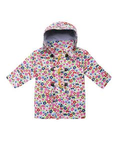 Love this Blue  Pink Floral Fisherman's Coat - Infant, Toddler  Girls on #zulily! #zulilyfinds