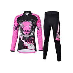 iPretty Ropa Pantalón de Ciclismo / Maillot de Bicicleta / Jersey para Ciclista/ Ropa de Running Correr Sport Deporte con Tirantes Mangas Largas con Rendimiento Transpirable para Mujeres, Color Fucsia y Negro, Talla L iPretty http://www.amazon.es/dp/B00UYAP2VS/ref=cm_sw_r_pi_dp_ahBXwb098QVB