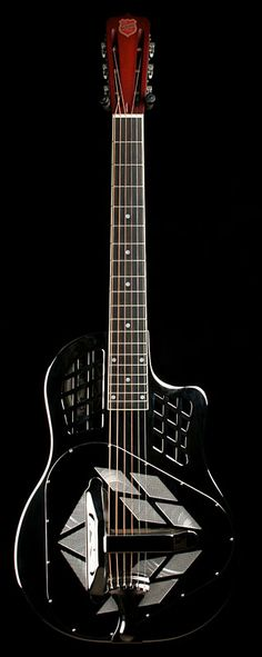 Fabulous National Guitar (black) ~ National Resophonic STYLE-1 TRICWY http://www.maplestreetguitars.com/show_item.php?dep=05=126=STYLE-1%20TRICWY#