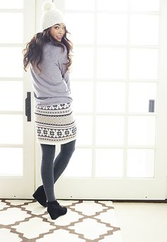 Fair isle sweater skirt - maurices.com