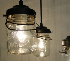 ball jar chandeliers. can't even.