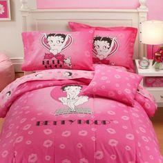 Popular Bath Betty Boop Full Comforter, by Bedroom Themes, Bedroom Sets, Bedroom Decor, Bedrooms, Full Size Comforter, Comforter Sets, Pink Bedding, Black Bedding, Betty Boop Figurines