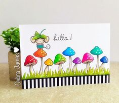 Debra : Debra James - Elliot and Mushrooms Card