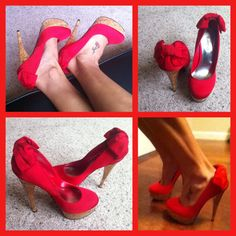 Red Bebe shoes! <3