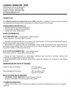 sample of a traditional resume