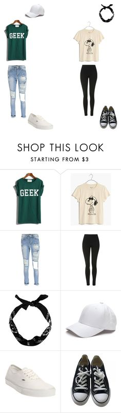 """#26"" by aliviaw on Polyvore featuring Madewell, Topshop, New Look, Vans and Converse"