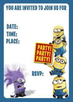 Transmutation Minion Birthday Invitation Minions Birthday Party - Minions birthday invitation images
