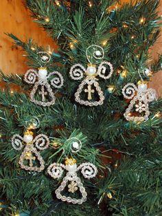 Beaded Angel Christmas Ornament. от KarensCraftsShop на Etsy