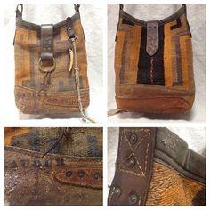 Navajo bucket with chaps leather base @barleyharvestseason – J AUGUR DESIGN