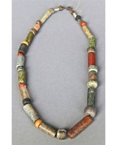 Antique Native American Indian Trade Bead Necklace (Multi Color) …   ? auction  sold $100-  looks pre-columbian