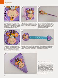 Mi baúl de cosas bonitas: Como hacer jirafa en 2d foamy Elizabeth Rodriguez, Autograph Book Disney, Bookmarks, Ideas Para, Coin Purse, Montessori, Scrapbook, Education, Toys