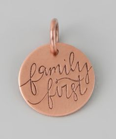 Take a look at this Copper 'Family First' Charm by FIVE on #zulily today!