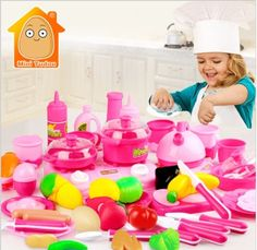MiniTudou Classic Cooking Toys For Children Pretend Play Cutting Food Set Kids Kitchen Educational Toy Play House Toys - Kid Shop Global - Kids & Baby Shop Online - baby & kids clothing, toys for baby & kid Baby Toys, Kids Toys, Children Play, Cooking Toys, Cooking Game, Play Food Set, Baby Shop Online, Barbie, Toy Kitchen
