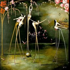 Rozy Demant Rozi Demant paintings refer to representation surrealism, a genre championed by Dali and Magritte, whose philosophie. Art And Illustration, Illustrations, New Zealand Art, Nz Art, Fantasy Kunst, Fantasy Inspiration, Fantastic Art, Awesome Art, Heart Art