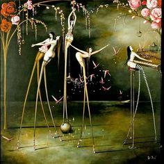Beautiful artwork of ballerinas...