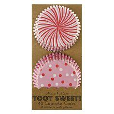 Meri Meri Toot Sweet Pink & Red Cupcake Patties   Emiko Blue Shop
