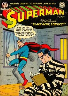 A cover gallery for the comic book Superman Old Comic Books, Vintage Comic Books, Vintage Comics, Comic Book Covers, Comic Book Characters, Arte Dc Comics, Dc Comics Superheroes, Old Comics, Clark Kent