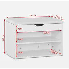 Haotian Wooden Shoe Cabinet, 2 Tiers Shoe Storage Bench Shoe Rack with Folding Padded Seat, White 2 Shoe Rack With Seat, Shoe Rack Bench, Diy Shoe Rack, Bench With Shoe Storage, Wooden Shoe Cabinet, Shoe Storage Cabinet, Wood Shop Projects, Wooden Projects, Bedroom Closet Design