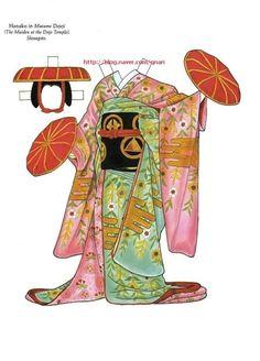 종이인형 (가부키) : 네이버 블로그 Japanese Artwork, Japanese Paper, New Year's Crafts, Paper Crafts, Kimono Origami, Paper Doll Costume, Kabuki Costume, Paper Dolls Clothing, Paper Dolls Printable