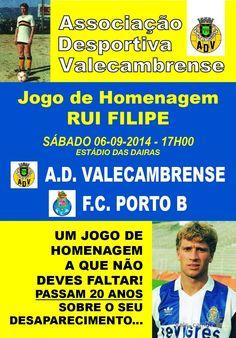 Jogo de homenagem RUI FILIPE > 6 Set 2014, 17h00 @ Estádio Municipal das Dairas, Vale de Cambra  Futebol: AD Valecambrense vs FC Porto B  #ValeDeCambra #futebol
