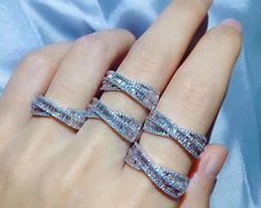 Gem Select Crafts Crossover Diamond Rings in White Gold Gold Diamond Rings, Diamond Gemstone, Gemstone Jewelry, Gold Jewelry, Gold Rings, Fine Jewelry, Jewelry Shop, Jewelry Design, Fashion Jewelry