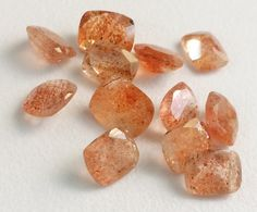 WHOLESALE 8 Pcs Sunstone Stone Sunstone Faceted by gemsforjewels