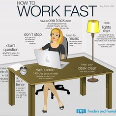 Is it possible to train yourself to work fast? This infographic says it is! #work #worksmart #workfast #workhard #business #motivation #inspiration #infographic #businesspassion #success #goals #mindset #training #dontstop #neverquit #keepgoing