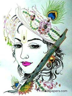 Latest HD Lord Krishna Images for Radha Krishna Wallpaper Lovers Baby Krishna, Cute Krishna, Krishna Art, Radha Krishna Photo, Radhe Krishna, Shree Krishna, Iskcon Krishna, Krishna Tattoo, Krishna Leela